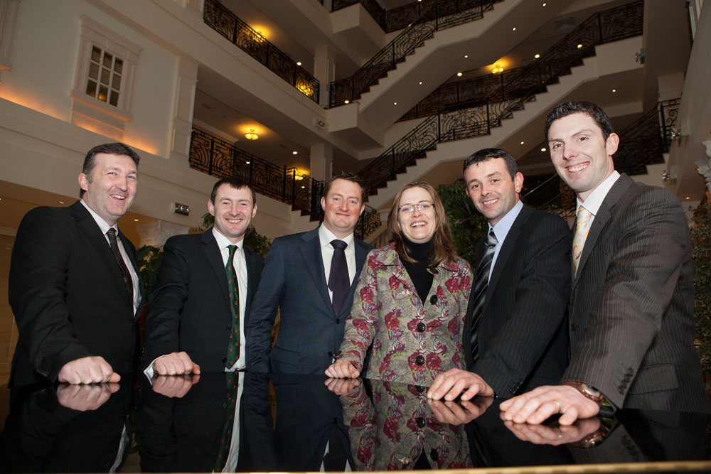 2013-Scholars-Alo-Mohan,-Seamus-O'Mahony,-Mark-Rochford,-Karen-Brosnan,Eddie-Kehoe,-Sean-O'Donnell-at-the-Nuffield-Ireland-Conference-Jan-2013-37