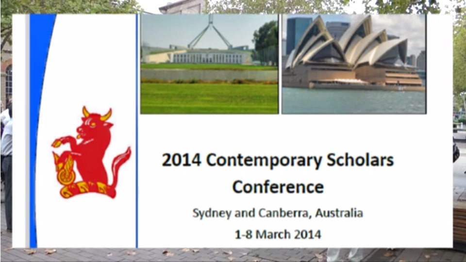 Nuffield Contemporary Scholars Conference 2014