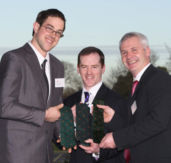 2012 Nuffield Scholars Sean Cummins, Andrew and Micheal McCarthy in Kilkenny, January 2012