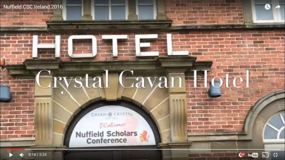 Good video blog of Nuffield CSC 2016 hosted in Ireland