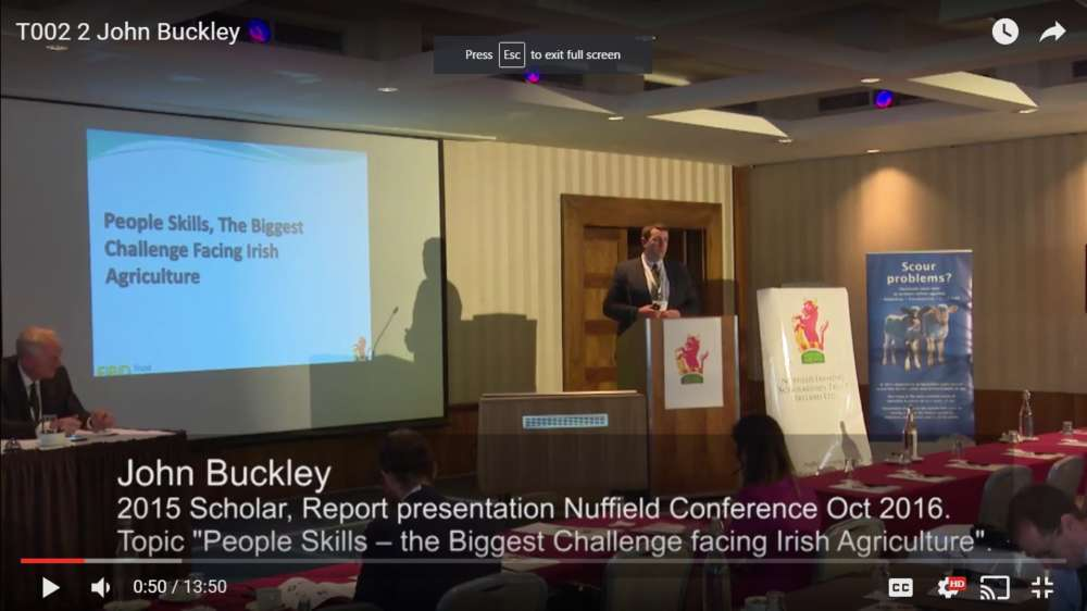 John Buckley – 2015 Scholar